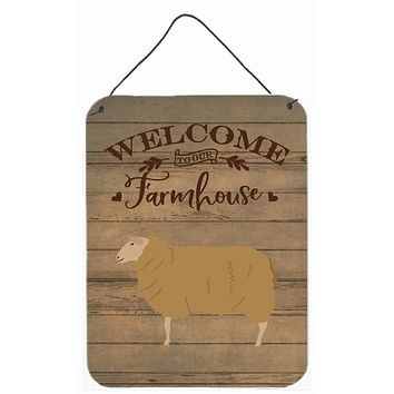 East Friesian Sheep Welcome Wall or Door Hanging Prints CK6921DS1216
