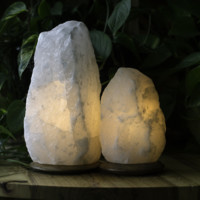 HIMALAYAN WHITE SALT LIGHT SET - RARE