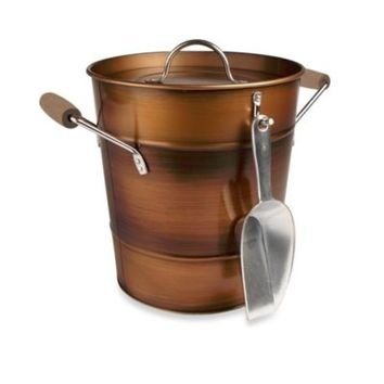 Artland Oasis Ice Bucket with Scoop in Antique Copper
