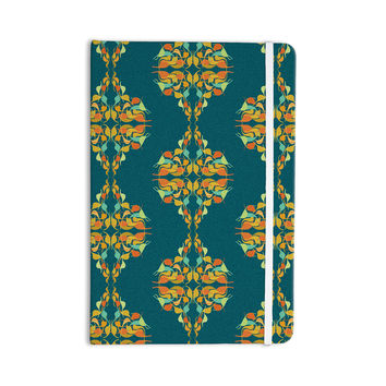 "Dan Sekanwagi ""Turquoise Feast"" Teal Orange Everything Notebook"