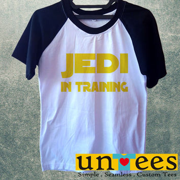 Jedi in Training Cool Star Wars Short Raglan Sleeves T-shirt