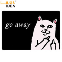 HUGSIDEA Unwelcome Home Carpets Cat Go Away Felt Floor Living Room RugsThin Anti-Slip Bathroom Rug Tapete Para Banheiro Bath Mat