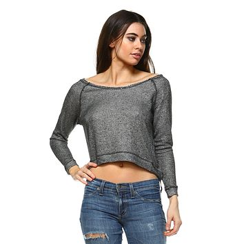 Women's Round Neck Crop Sweater