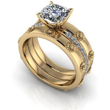 Diamond Engagement Ring - Moissanite Ring - Insieme™ Bridal Stackables - Customize Your Ring