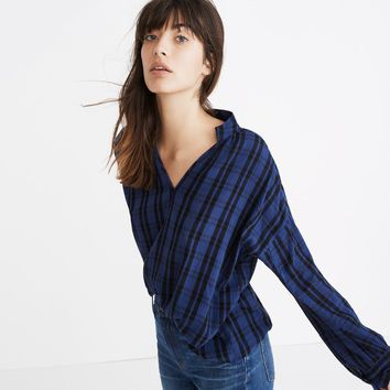 Highroad Popover Shirt in Chelton Plaid : shopmadewell button-up & popover shirts   Madewell