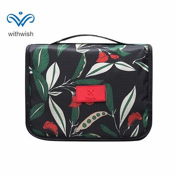 Waterproof Travel Kit Neceser Cosmetics Bag Portable Toiletry Cases Makeup Organizer Tote with Hanging Hook 2 Colors Optional