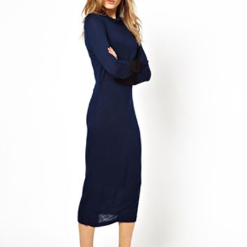 Pencey Standard Funnel Neck Dress - Midnight