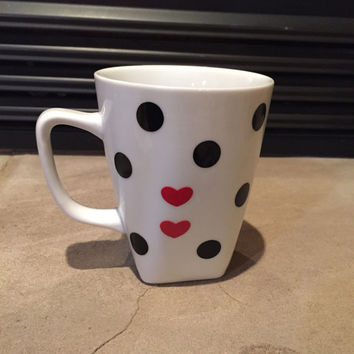 Polka Dotted Coffee Cup