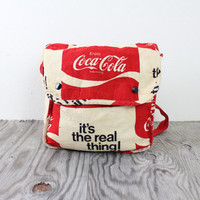 "Vintage Retro RARE Red Coca Cola Backpack Rucksack ""its the real thing"""