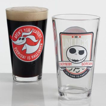 Disneyfts Nightmare Before Christmas Pint Glasses Set Of 2