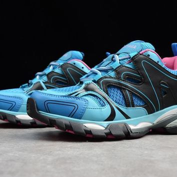 balenciaga track outdoor men women running sneaker blue pink w06e1 3325