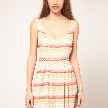 ASOS Skater Dress in Sequin - Multi