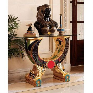 Egyptian Wings of Horus Altar Grand Console - WU71539 - Design Toscano