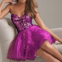 Shining Gold  Attire Bodice Short Bridal Prom Cocktail Party Evening Dress 2012