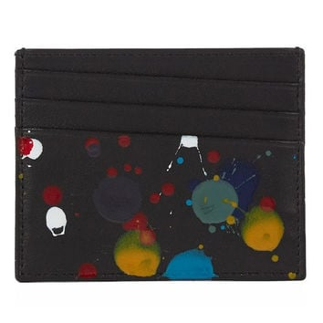 Paint Splatter Card Wallet by Maison Martin Margiela