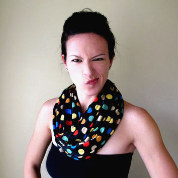 $28.00 CIRCULAR INFINITY jersey cotton scarf by EcoShag on Etsy