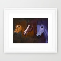 Painted Horses to ride on Framed Art Print by B9Cre8tions