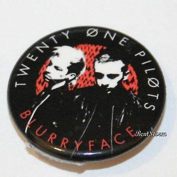 "Licensed cool 21 Twenty One Pilots Music Band Blurryface 1 1/4"" Button Pin Back Pinback NEW"