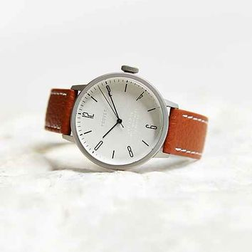 TSOVET SVT-CN38 Leather Watch- White One