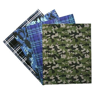 2 Pocket Laminated Folder w- Plaid-Camo Prints - CASE OF 48