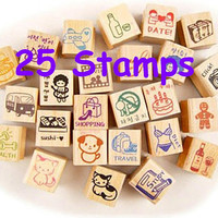 Happy Diary wooden rubber Stamper traveller notebook rubber stamp 7 days pets Cartoon Calendar schedule diary entertainment icon stamper