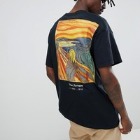 Reclaimed Vintage inspired the Scream t-shirt in black at asos.com
