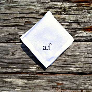 e e cummings Pocket Square, Literary Handkerchief, Bookworm Gift Idea, Monogrammed Pocket Square, Personalized Hankerchief, Initials Hankie