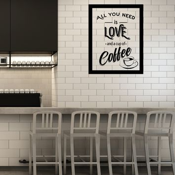 Vinyl Wall Decal Coffee House Cafe Cup Lover Shop Love Quote Stickers Mural (ig5474)