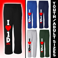 I LOVE 1D SWEAT PANTS****YOUTH/ADULT SIZES****I HEART ONE DIRECTION PANTS