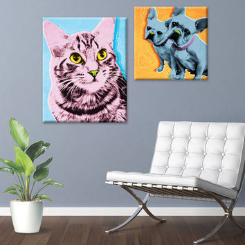 Custom Pop Art Pet Portrait CANVAS Print
