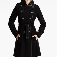 GUESS Double Breasted Wool Blend Coat (Online Exclusive) | Nordstrom
