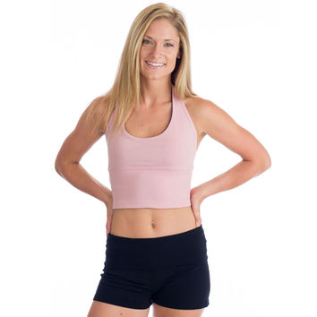 Love Lace-Up Reversible Halter Top - Pink and Black
