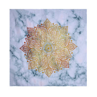 Cool Flower Design on Marble 180*180CM 3D Shower Curtain