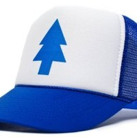 Dippers Blue Pine Tree Unisex-Adult Trucker Hat -One-Size Royal/White
