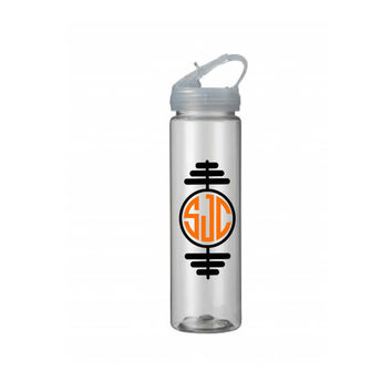 Monogrammed Workout Water Bottle - Personalized Water Bottle - Monogram Weights Water Bottle