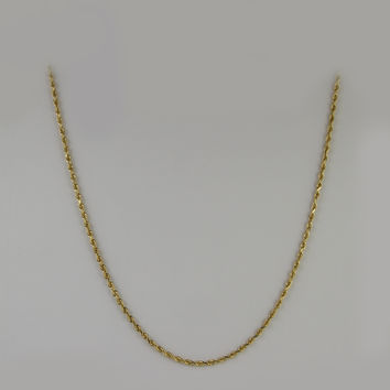 Rope Chain 18.5 Inches 2.1mm 4.9 Grams in 10K Yellow Gold