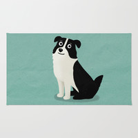 Australian Shepherd - Cute Dog Series Rug by Cassandra Gibbons