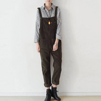 SERENELY Trousers for Women 2017 Autumn Winter Pants Loose Thickening Corduroy Overalls Casual Pantalon Femme Trousers Rompers