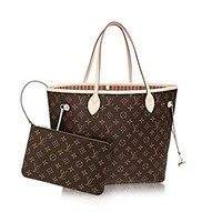 SUPREME&LV Monogram Canvas Beige Neverfull MM,Purse,Ladies Backpack,Ladies handbag,Handbags