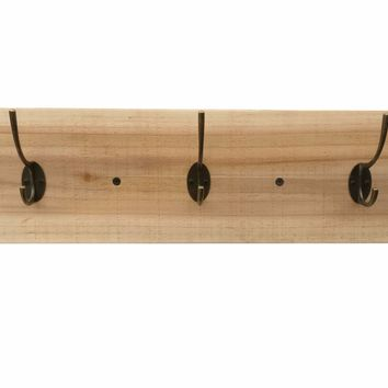 Reclaimed Wood Coat Rack - Natural