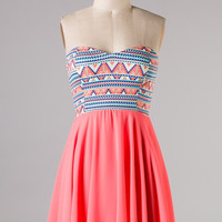 Such a Flirt Dress - Bright Coral