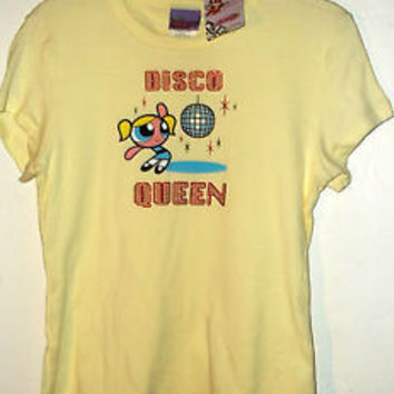 NEW jr size POWERPUFF GIRLS T SHIRT DISCO QUEEN by CARTOON NETWORK u pic size