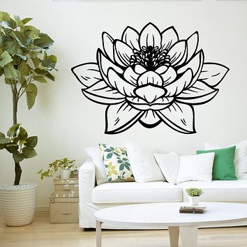 Lotus Flower Buddha Yoga Studio Meditation Decor Vinyl Decal Unique Gift z2906