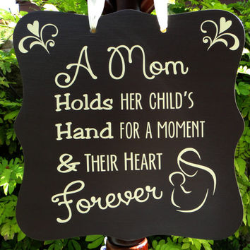 Mother & Child Forever Sign - Heartwarming Home Decor, Mother's Day Gift or New Mom/Baby Shower Gift