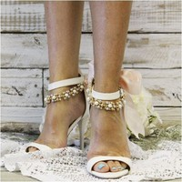 BRENNA - ribbon wedding ankle bracelet
