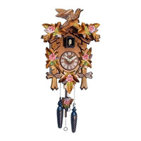 "Engstler Christmas Decor Battery-Operated Cuckoo Clock - Full Size - 14""""H X 9.5""""W X 6.5""""D"