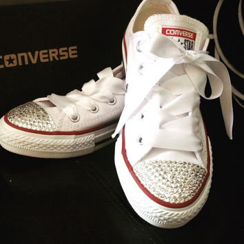Custom order- Kids converse , swarovski converse, blinged converse , sparkle converse , kids converse , customized converse, mommy and me