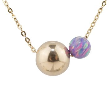 Irregular Two Tone Cosmic Purple Opal Necklace
