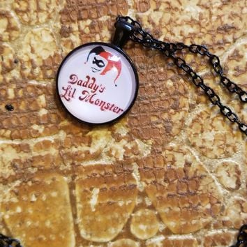 DC Comics Harley Quinn Daddy's Lil' Monster Pendant Necklace