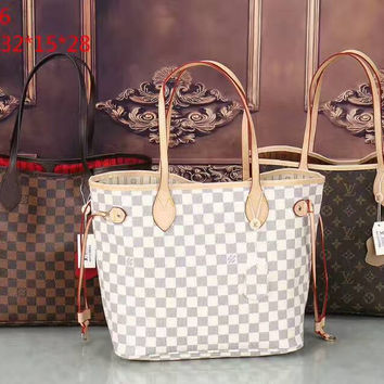 LV Women Shopping Bag Leather Tote Handbag Shoulder Bag H-LLBPFSH